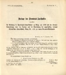 29. Provinzial-Landtag, Drucksache Nr. 17