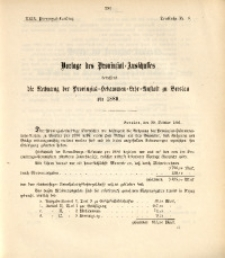 29. Provinzial-Landtag, Drucksache Nr. 19