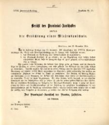 29. Provinzial-Landtag, Drucksache Nr. 21