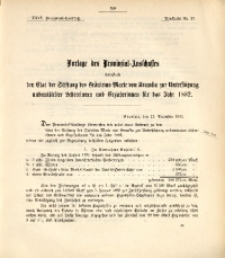 29. Provinzial-Landtag, Drucksache Nr. 27
