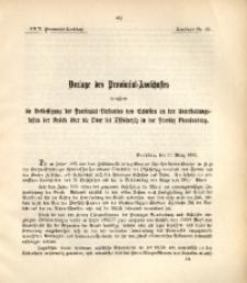 29. Provinzial-Landtag, Drucksache Nr. 62