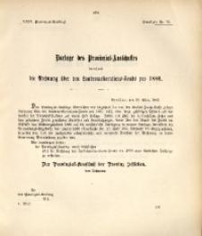 29. Provinzial-Landtag, Drucksache Nr. 70