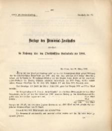 29. Provinzial-Landtag, Drucksache Nr. 72