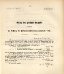 29. Provinzial-Landtag, Drucksache Nr. 90