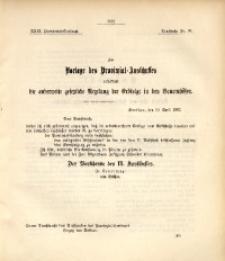 29. Provinzial-Landtag, Drucksache Nr. 96