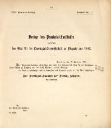 29. Provinzial-Landtag, Drucksache Nr. 11