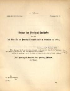 30. Provinzial-Landtag, Drucksache Nr. 64