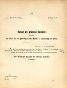30. Provinzial-Landtag, Drucksache Nr. 65