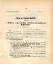 30. Provinzial-Landtag, Drucksache Nr. 100