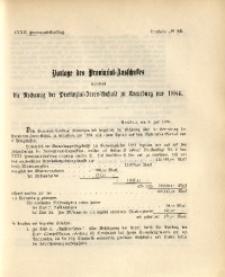 32. Provinzial-Landtag, Drucksache Nr. 84