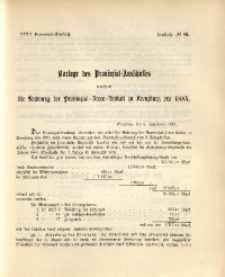 32. Provinzial-Landtag, Drucksache Nr. 85