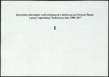 Kartoteka nekrologów osób związanych z medycyną na Górnym Śląsku z prasy regionalnej i fachowej za lata 1988-2017. Litera I