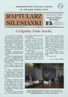 Raptularz Silesianki, 14 listopada 2013