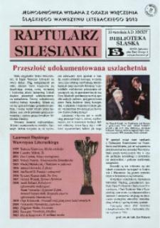 Raptularz Silesianki, 10 września 2014