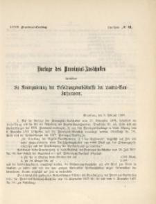 33. Provinzial-Landtag, Drucksache No. 91