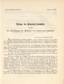 33. Provinzial-Landtag, Drucksache No. 98
