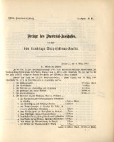 35. Provinzial-Landtag, Drucksache No. 11