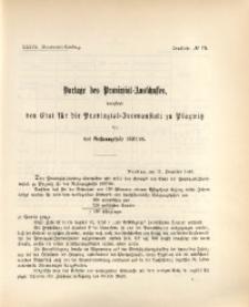 37. Provinzial-Landtag, Drucksache No. 19