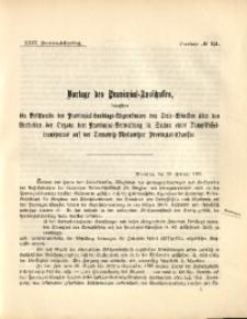 35. Provinzial-Landtag, Drucksache No. 151