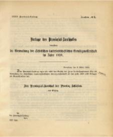 34. Provinzial-Landtag, Drucksache No. 3