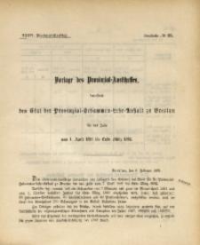 34. Provinzial-Landtag, Drucksache No. 31