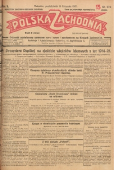 Polska Zachodnia, 1927, R. 2, nr 273