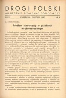 Drogi Polski. Miesięcznik społeczno-gospodarczy, 1937, R. 1, nr 4