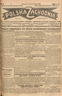 Polska Zachodnia, 1929, R. 4, nr 49