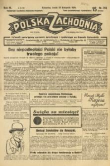 Polska Zachodnia, 1929, R. 4, nr 318