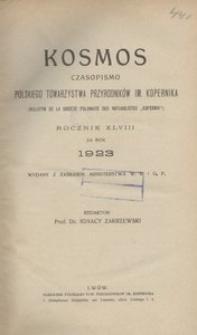 Kosmos, 1923, R. 48, z. 1