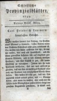 Schlesische Provinzialblätter, 1793, 17. Bd., 3. St.: März