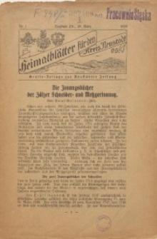 Heimatblätter für den Kreis Neustadt O. S., 1928, Nr. 1
