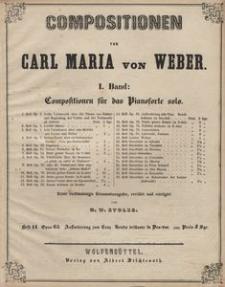 Compositionen von Carl Maria von Weber. Bd I, Compositionen für das Pianoforte solo. H. 14, Opus 65, Aufforderung zum Tanz : Rondo brillante in Des-dur