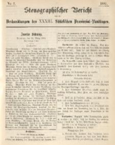 Stenographischer Bericht über die Verhandlungen des XXXIII. Schlesischen Provinzial-Landtages, 1889, No. 2