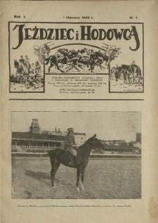 Jeździec i Hodowca, R. 1 (1922), Nry 1-22