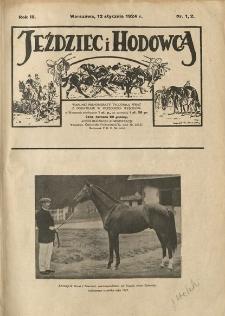 Jeździec i Hodowca, R. 3 (1924), Nry 1-25/26