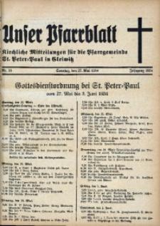 Unser Pfarrblatt, Jg. 1934, Nr. 16