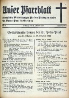 Unser Pfarrblatt, Jg. 1934, Nr. 37