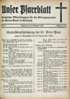 Unser Pfarrblatt, Jg. 1934, Nr. 40