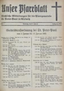 Unser Pfarrblatt, Jg. 1935, Nr. 1