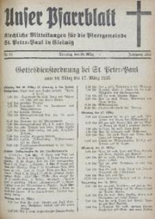 Unser Pfarrblatt, Jg. 1935, Nr. 10