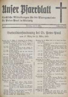 Unser Pfarrblatt, Jg. 1935, Nr. 11