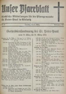 Unser Pfarrblatt, Jg. 1935, Nr. 12