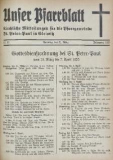 Unser Pfarrblatt, Jg. 1935, Nr. 13
