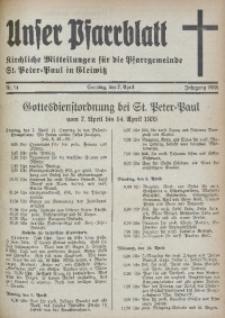 Unser Pfarrblatt, Jg. 1935, Nr. 14