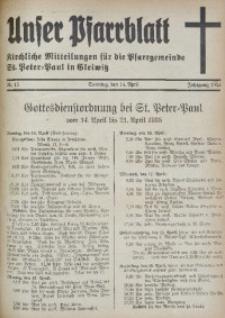 Unser Pfarrblatt, Jg. 1935, Nr. 15