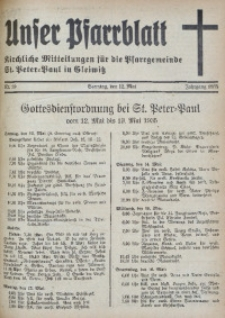 Unser Pfarrblatt, Jg. 1935, Nr. 19
