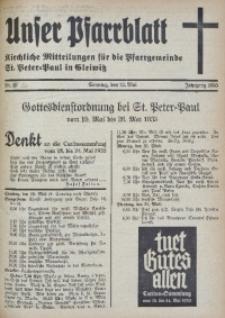 Unser Pfarrblatt, Jg. 1935, Nr. 20