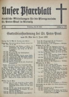 Unser Pfarrblatt, Jg. 1935, Nr. 21