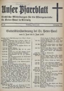 Unser Pfarrblatt, Jg. 1935, Nr. 22